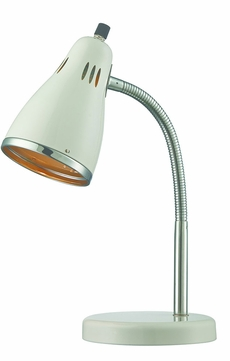 Lite Source LS-22535WHT Kris Modern Chrome Fluorescent Desktop Lamp