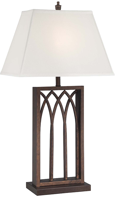 Lite Source LS 22561 Cambridge Antique Rust Finish 16u0026nbsp; Wide Side Table  Lamp. Loading Zoom