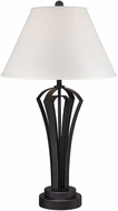 Lite Source LS-22566 Celeste Antique Black Finish 17  Wide Table Lamp Lighting