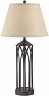 Lite Source LS-22567 Devon Antique Black Finish 16  Wide Table Light