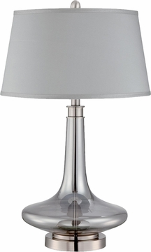 Lite Source LS-22576 Kelston Modern Polished Steel Finish 28  Tall Table Lamp Lighting