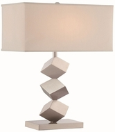Lite Source LS-22602 Agostino Contemporary Satin Nickel Table Lamp Lighting
