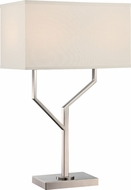 Lite Source LS-22613 Joshua Contemporary Polished Steel Lighting Table Lamp