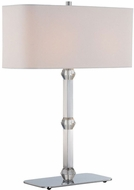 Lite Source LS-22628 Cairo Contemporary Chrome Fluorescent Side Table Lamp