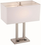 Lite Source LS-22638 Fiadi Modern Polished Steel Table Lighting