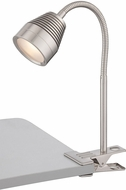 Lite Source LS-22680PS Nobu Contemporary Polished Steel LED Clip On Desk Lamp