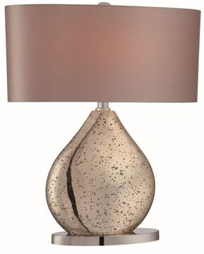 Lite Source LS-22711 Mandalay Gold Glass Fluorescent Side Table Lamp
