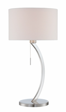 Lite Source LS-22733 Lilith Contemporary Chrome Fluorescent Table Lighting
