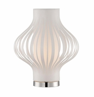 Lite Source LS-22770WHT Lanica Contemporary White Fluorescent Accent Lamp