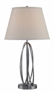 Lite Source LS-22777 Sandra Contemporary Aged Gunmetal Fluorescent Table Light