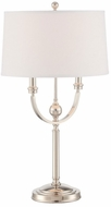 Lite Source LS-22788 Camila Polished Steel Fluorescent Table Lamp