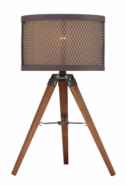 Lite Source LS-22797 Macyn Contemporary Aged Rust Fluorescent Lighting Table Lamp