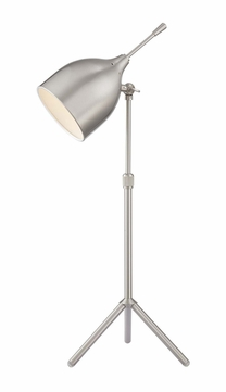 Lite Source LS-22808PS Ulric Modern Polished Steel Fluorescent Study Lamp