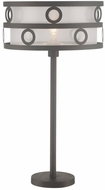 Lite Source LS-22833 Lavinia Contemporary Burnished Bronze Fluorescent Table Lighting