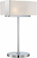 Lite Source LS-22866 Rogina Modern Polished Steel Fluorescent Lighting Table Lamp