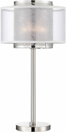 Lite Source LS-22888 Lacole Contemporary Brushed Nickel Table Lamp