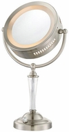 Lite Source LS-22942 Vogue Contemporary Brushed Nickel LED Mirror Lamp