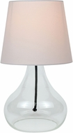 Lite Source LS-22960WHT Modern White Fluorescent Side Table Lamp