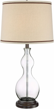 Lite Source LS-23013 Carolina Dark Bronze Fluorescent Table Lamp Lighting