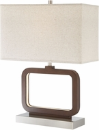 Lite Source LS-23021 Leonard Contemporary Walnut LED Table Lamp