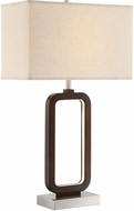 Lite Source LS-23022 Leonard Modern Walnut LED Table Lamp
