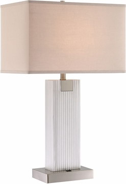 Lite Source LS-23042 Clifton Contemporary Brushed Nickel Table Lighting