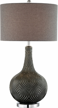 Lite Source LS-23072GREY Dylan Metallic Grey Table Light