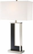 Lite Source LS-23076 Theoris Contemporary Dark Walnut LED Table Lamp Lighting