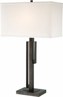 Lite Source LS-23079 Kurtis Brushed Black Side Table Lamp