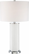 Lite Source LS-23085WHT Gordon Glitter White Table Light