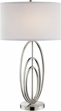 Lite Source LS-23090 Bailee Contemporary Brushed Nickel Table Light