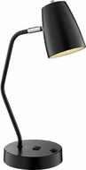 Lite Source LS-23120BLK Ronnie Contemporary Black Desktop Lamp