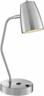 Lite Source LS-23120BN Ronnie Modern Brushed Nickel Study Lamp