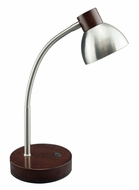 Lite Source LS-23122BN Eryx Modern Dark Oak Wood LED Reading Light