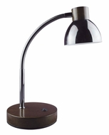 Lite Source LS-23122G Eryx Contemporary Dark Oak Wood LED Reading Lamp