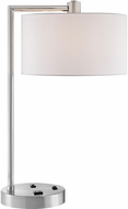 Lite Source LS-23148 Lexiana Contemporary Brushed Nickel Table Lamp