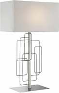 Lite Source LS-23153 Fayth Modern Brushed Nickel Table Lighting