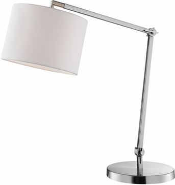Lite Source LS-23155 Lark Contemporary Brushed Nickel Craft Lamp