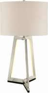 Lite Source LS-23165 Pax Contemporary Brushed Nickel LED Table Top Lamp