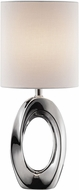 Lite Source LS-23183 Clover Contemporary Silver Table Lamp Lighting