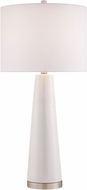 Lite Source LS-23200WHT Tyrone White Table Lamp Lighting