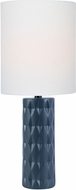 Lite Source LS-23203JBLK Delta Jet Black Side Table Lamp