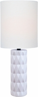 Lite Source LS-23203WHT Delta White Table Light