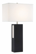 Lite Source LS-23232 Moulton Contemporary Black LED Table Lamp Lighting