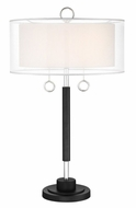 Lite Source LS-23237 Umbra Modern Chrome Table Top Lamp