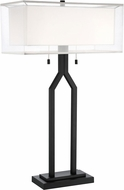 Lite Source LS-23238 Nalani Contemporary Black Side Table Lamp