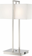 Lite Source LS-23270 Caitlin Modern Brushed Nickel Table Lamp