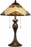 Lite Source LS-23274 Creason Tiffany Dark Brown Table Light