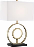Lite Source LS-23300 Rossini Contemporary Aged Bronze LED Table Lamp Lighting