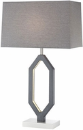 Lite Source LS-23370 Desmond Contemporary Charcoal Grey LED Table Top Lamp